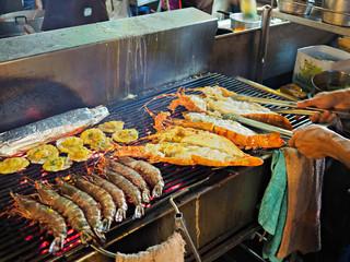 Street Food in Hua Hin night market ,Thailand