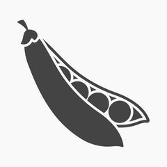 Fototapete - Peas icon cartoon. Singe vegetables icon from the eco food set.