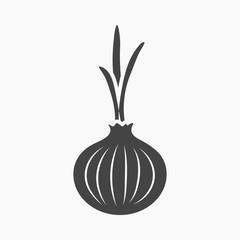 Fototapete - Onion icon cartoon. Singe vegetables icon from the eco food set.