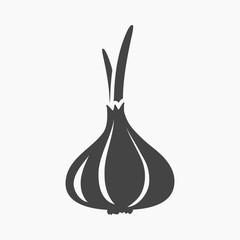 Fototapete - Garlic icon cartoon. Singe vegetables icon from the eco food set.