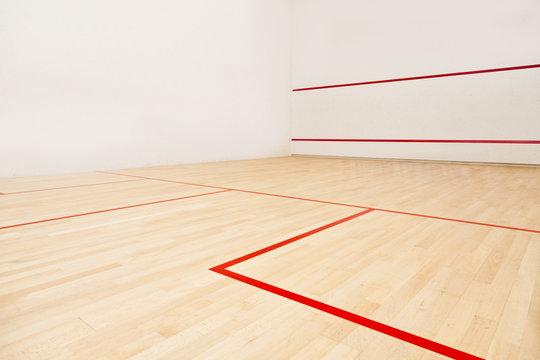 wooden floor-International squash court