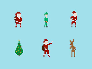 Christmas Pixel Art Set