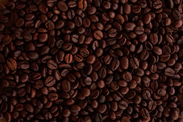 coffee grains background in full screen