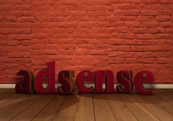 Adsense, 3D, Text