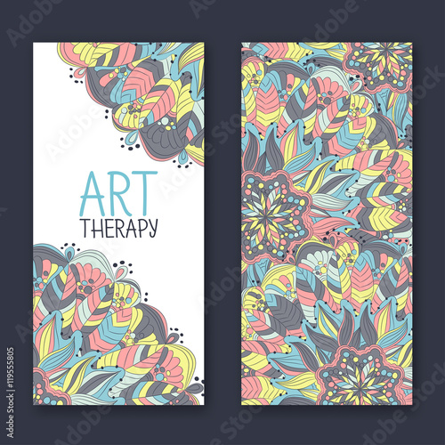 Template For Design Of A Flyer The Business Card Or Banner Art