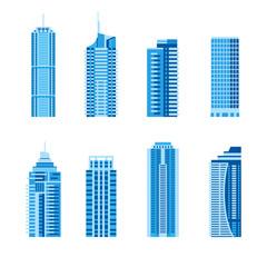 Fototapeta Modern skyscrapers set