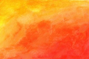 Fototapeta Orange background in watercolor grunge obraz
