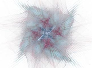 Blue glowing floral fractal