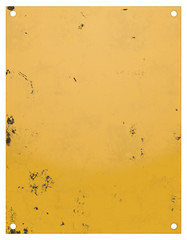 Blank Worn Yellow Caution Sign