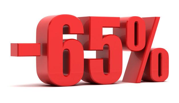 65 percent discount 3d text