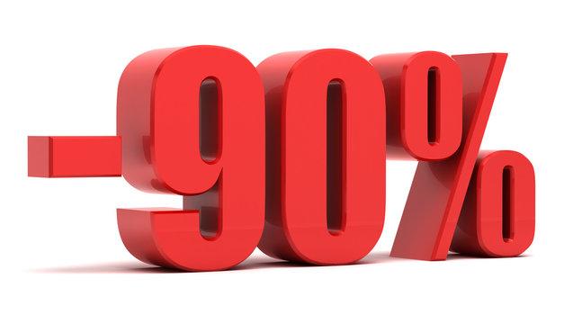 90 percent discount 3d text