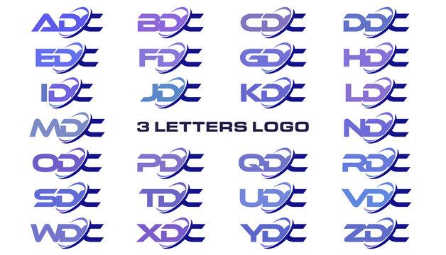 3 letters modern generic swoosh logo ADC, BDC, CDC, DDC, EDC, FDC, GDC, HDC, IDC, JDC, KDC, LDC, MDC, NDC, ODC, PDC, QDC, RDC, SDC, TDC, UDC, VDC, WDC, XDC, YDC, ZDC