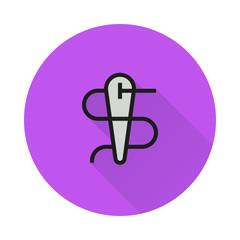 Needle icon on round background