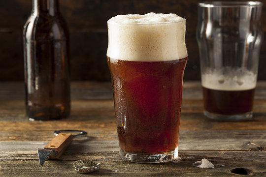 Refreshing Brown Ale Beer