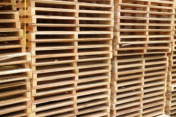 Wooden pallet for factory warehouse