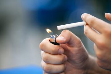 lighting sigarettes