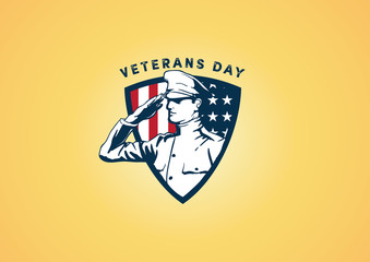 Veterans Day Badge Design