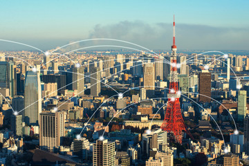 Wall Mural - Tokyo city scape at day time