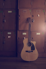 Guitar in locker room