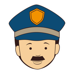 icon man policeman security isolated vector illustration eps 10