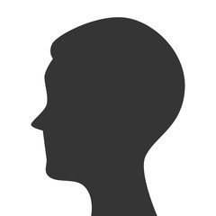 silhouette head person profile isolated vector illustration eps 10
