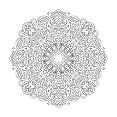Vector coloring book mandala.