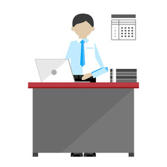 Project manager isolated on white background vector illustration