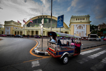 Tuk tuk for passenger cars. To go sightseeing in Bangkok.