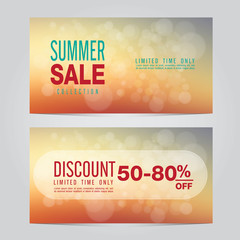 Summer Sale collection. Vector background.