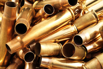Empty Bullet Casings Close Up