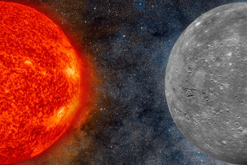 Solar System - Mercury. It is the smallest planet in the Solar System.