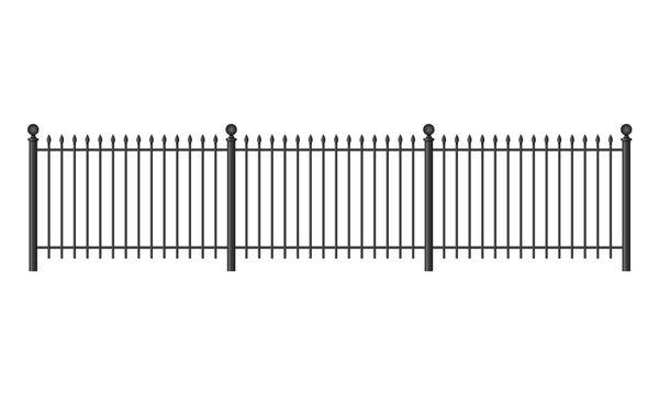 Black forged lattice fence