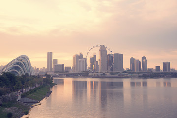 The landscape of the beautiful city of Singapore