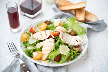 Classical Caesar Salad with chicken