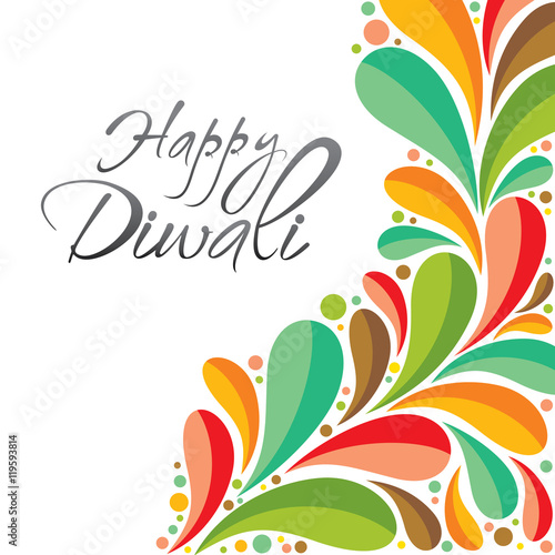 Colorful happy diwali greeting card or poster design vector stock colorful happy diwali greeting card or poster design vector m4hsunfo