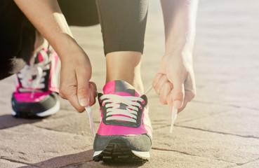 scarpa, sfida, lacci, vincere, sport, iniziare