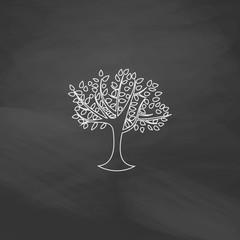 Maple tree computer symbol