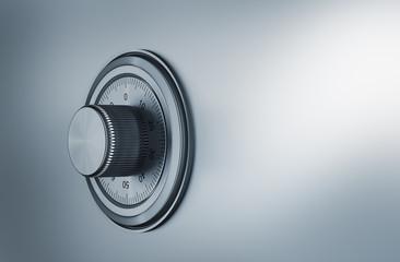 safe dial, security concep 3d render