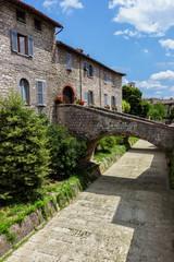 A beautiful glimpse of Gubbio, italian medieval town