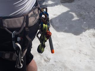 Equipo de escalada en Aiguille du Midi Chamonix Francia OLYMPUS DIGITAL CAMERA