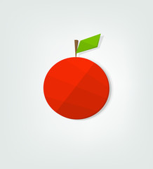 flat red apple icon