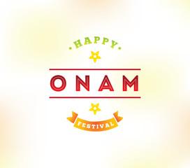 Happy onam festival vector illustration