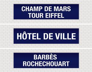 METRO - Station - Champ de Mars - Hôtel de Ville -  Barbès