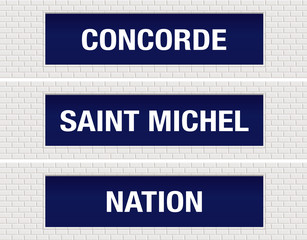 METRO - Station - Concorde - Saint Michel - Nation