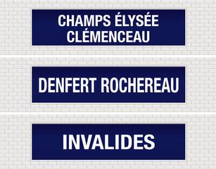 METRO - Station - Champs Elysée - Denfert Rochereau - Invalides