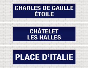 METRO - Station - Étoile - Les Halles - Place d'Italie