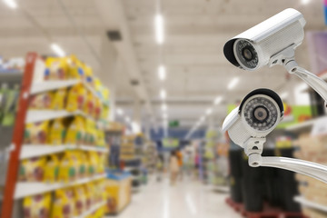 CCTV system security in the shopping mall.