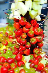 Fruit display close up