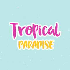 Hand drawn lettering, summer theme