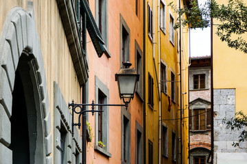 street view of Old Town Pisa Tuscany, Italy